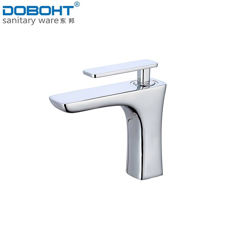 hot and cold brass single handle chrome bathroom basin faucet mixer