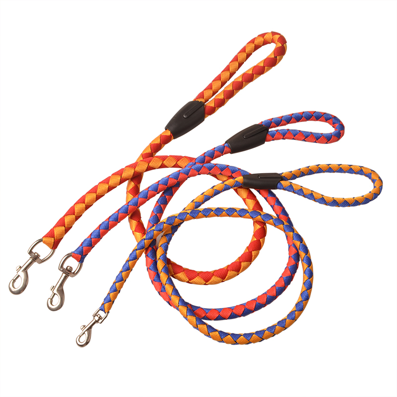 woven rope dog lead