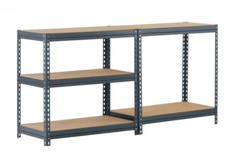 Warehouse storage racks Slotted Angle Shelves System boltless rivet shelving