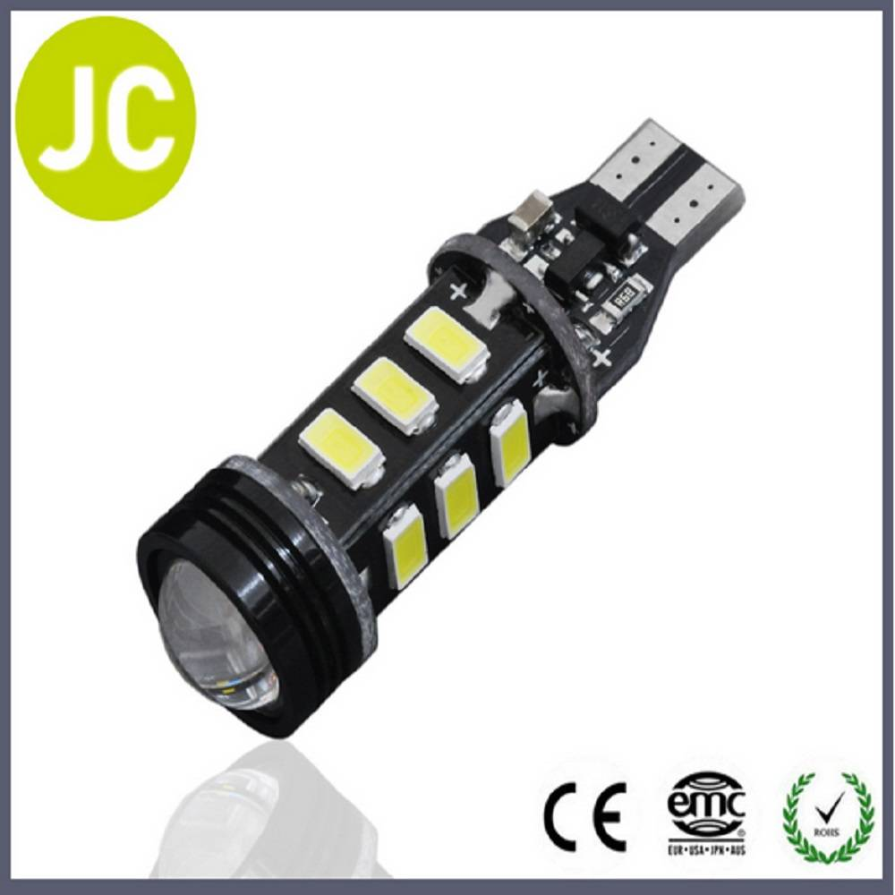 hot sale canbus 12-24v led indicator light with lens 5630 t15 12smd canbus car led bulb