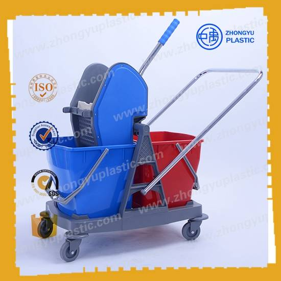 ZY-403 40L Mop Bucket Trolley, Mop wringer bucket