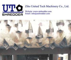 Single Shaft Shredder S40120 for tire, plastic, wood, metal, cable, paper crusher recycling