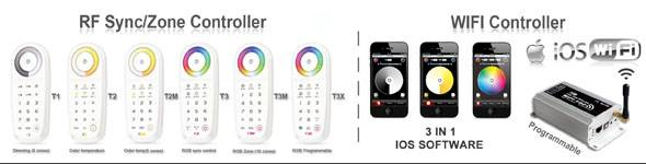 T3X 2.4G LED touch controller/multi color led remote control