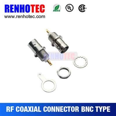 BNC Jack Connector For Bulkhead Panel