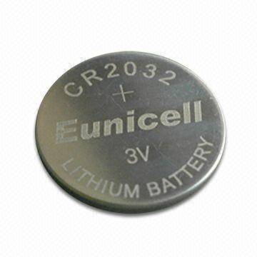 CR2032 3v lithium button cell battery, CR2032 coin cell battery Free Shipping