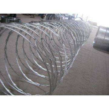 Galvanized razor wire