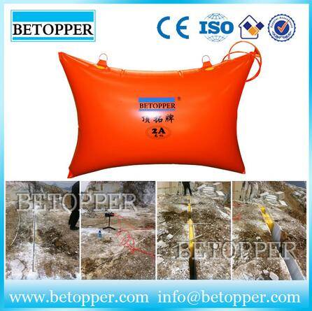 Stone mining pushing air bag factory