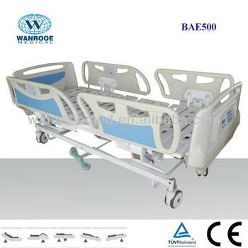 BAE500 Long siderails, with weight scales Hospital Electric Bed