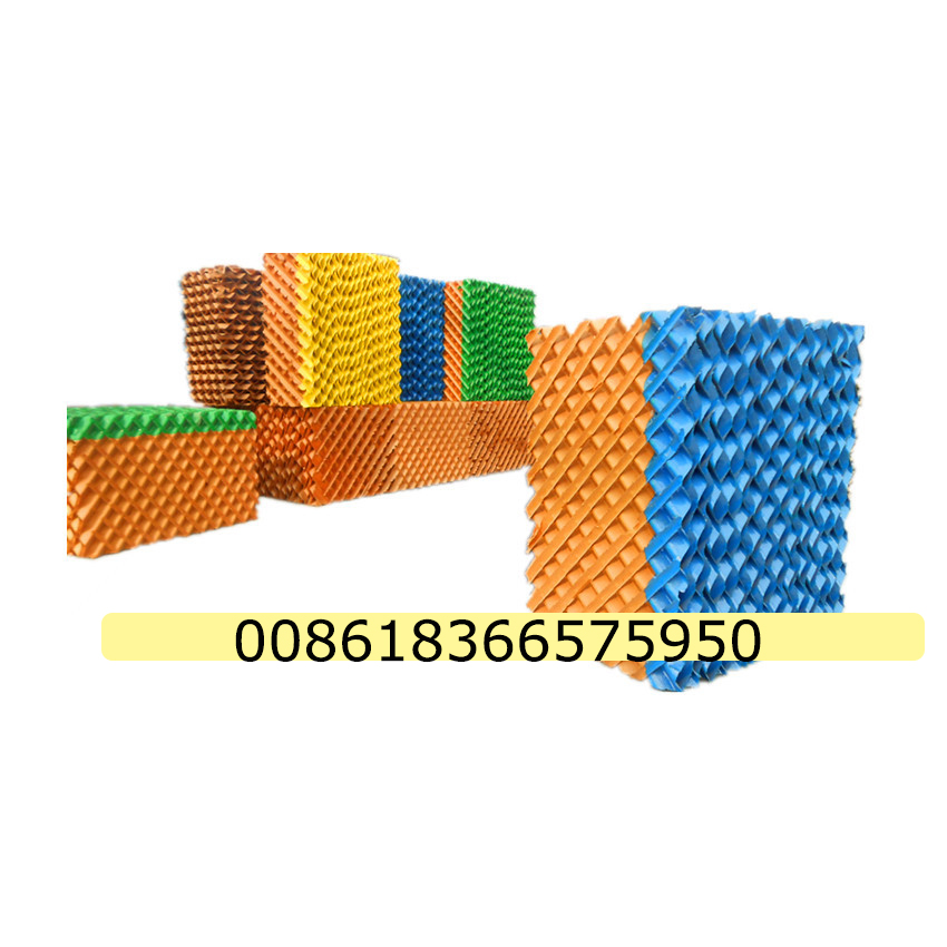 Color greenhouse evaporative cooling hum pads
