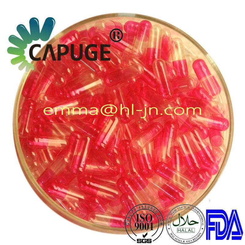 Hard Empty Gelatin Capsule Shells Translucent