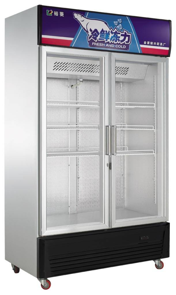 Two doors beverage display refrigerator with cheap price