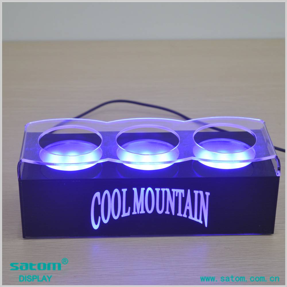 Customed Acrylic LED Bottle Stand in China