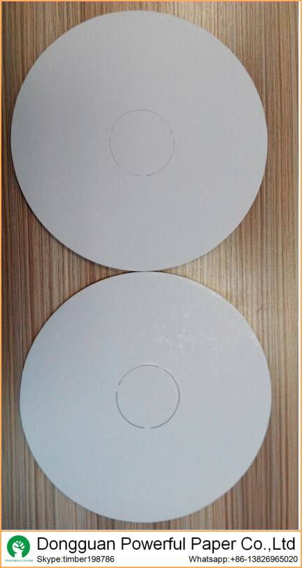 double white round shape 3mm cake board