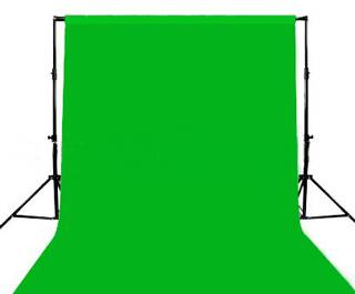 BACKGROUND STAND WITH CHROMAKEY GREEN BACKDROP