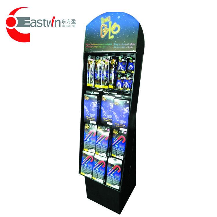 Customized floor standing cardboard display shelf for auto accessories