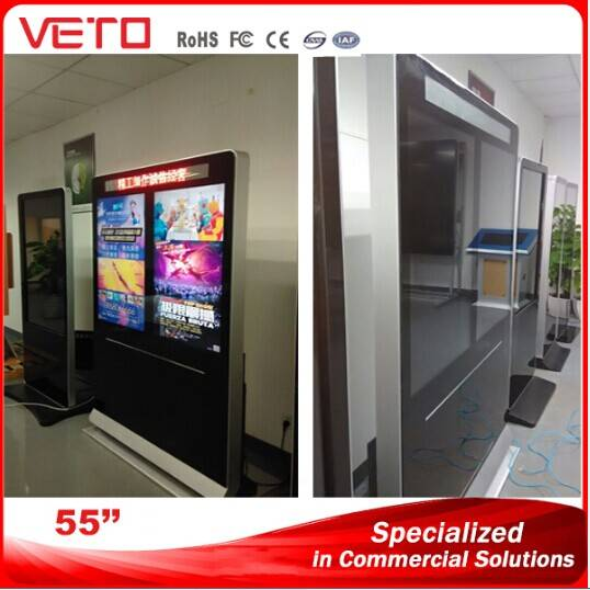 """55""""Double Screen Indoor LCD Display for Advertising Display"""