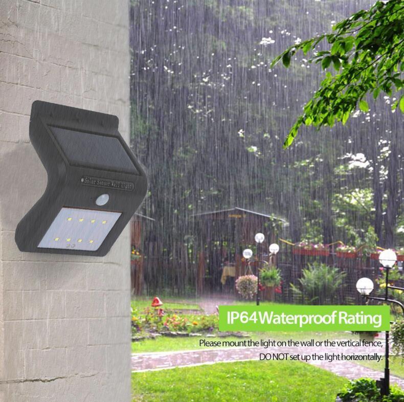 waterproof super bright solar wall sensor light