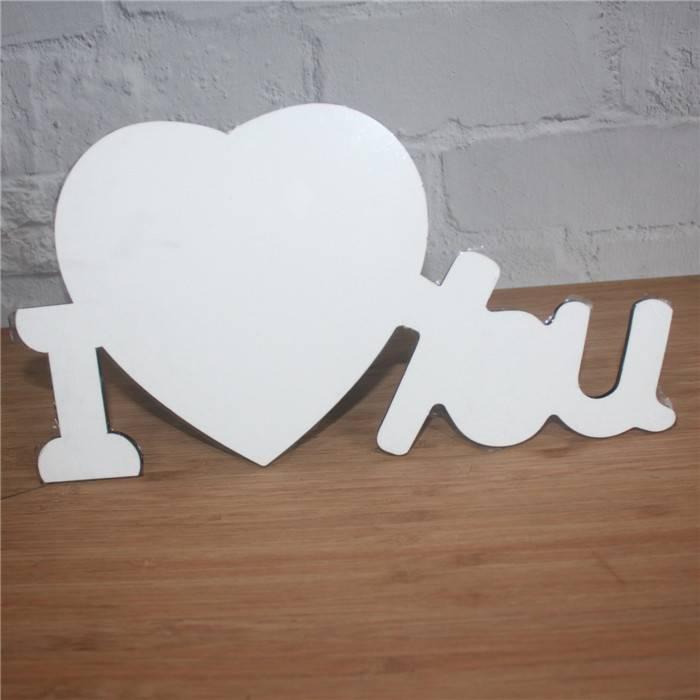 custom MDF wood LOVE photo frame