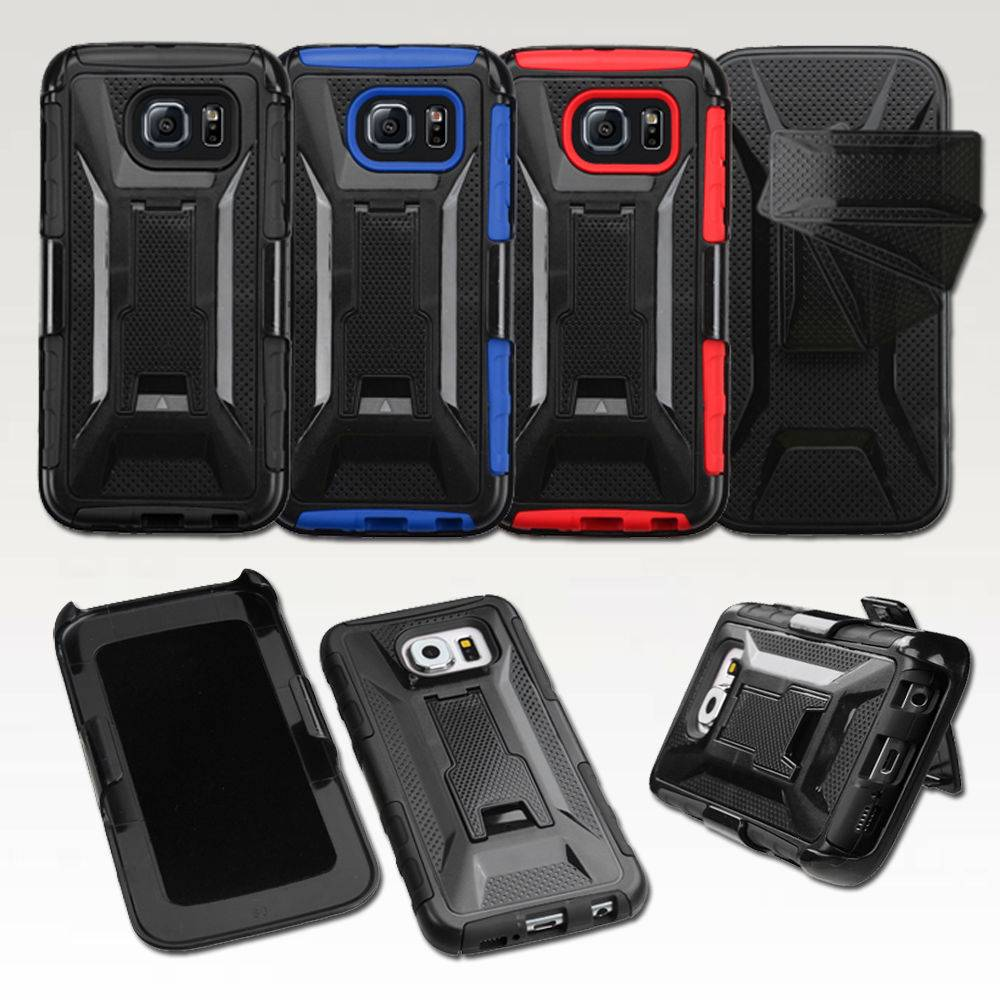 FullBody Protection Armor Case With Kickstand Rotating for galaxy s6 SGS6C33