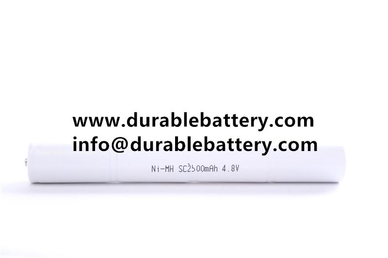 nimh battery for emergency light/lamp sc 2500mAh 4.8v HT nimh battery