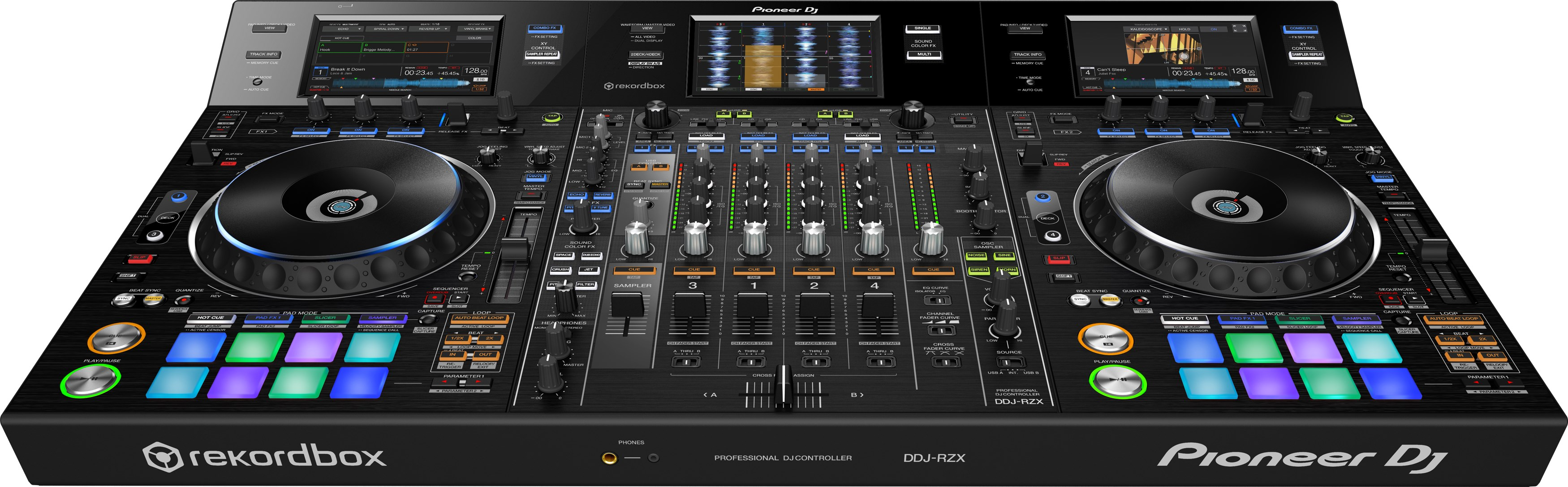 Pioneer DDJ-RZX 4 Deck Audio/Visual DJ Controller