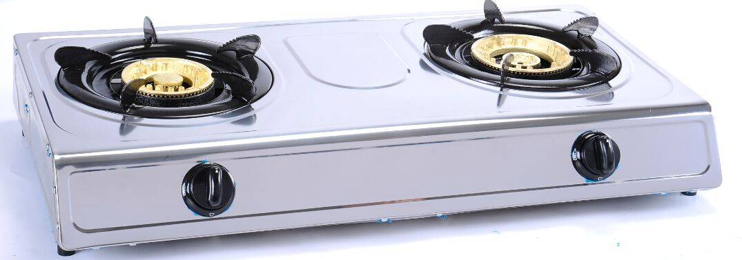 gas stove with 2 burners stainless steel