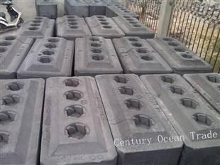Aluminium used for carbon block