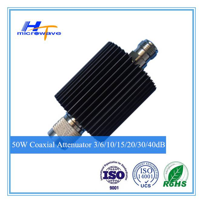 Telecommunication product rf fixed coaxial Attenuator 50W DC-3GHz N-M/N-F type