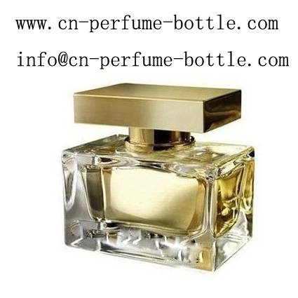 100ml square brand glass perfume bottle with spray pump