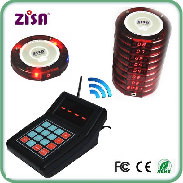 Wireless waiter call guest pager system , queueing management system