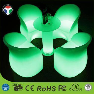 Rechargeable colorful LED chair furniture