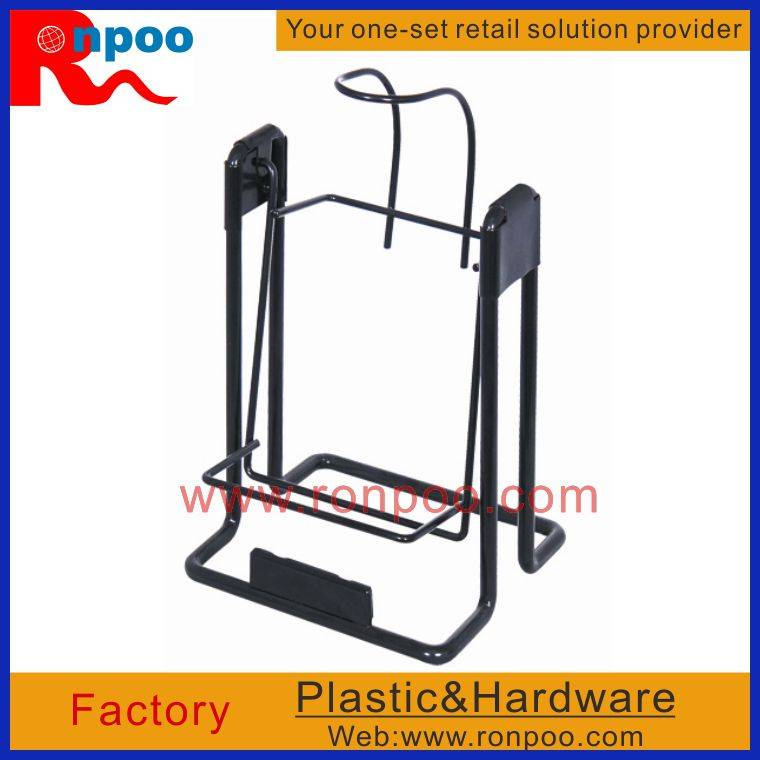 Metal Wire Retail Display, Rack with Hooks, Wire Store Display Racks, Steel Wire Shelving Units, Ste