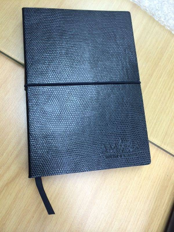 Business Black PU paper Journal with Lichee Pattern