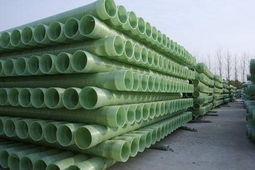 GRP mortar pipe used for wastewater and oil , chemical medium transmission