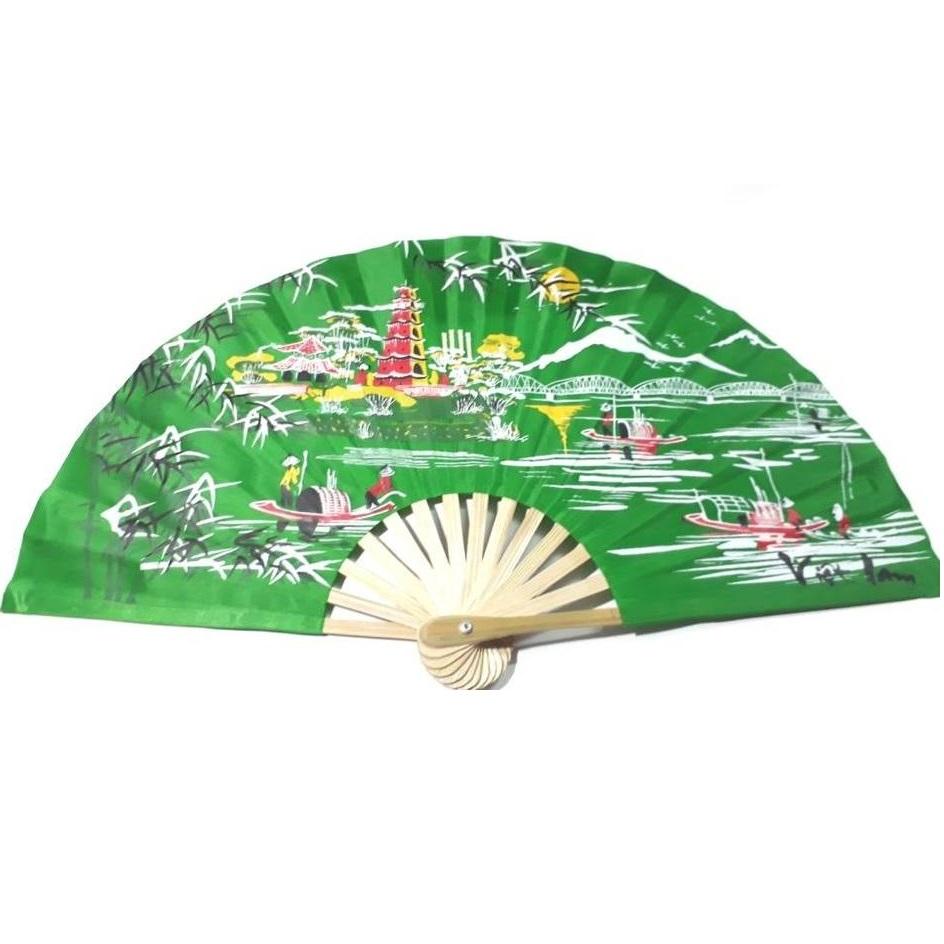 Bamboo silk hand fan