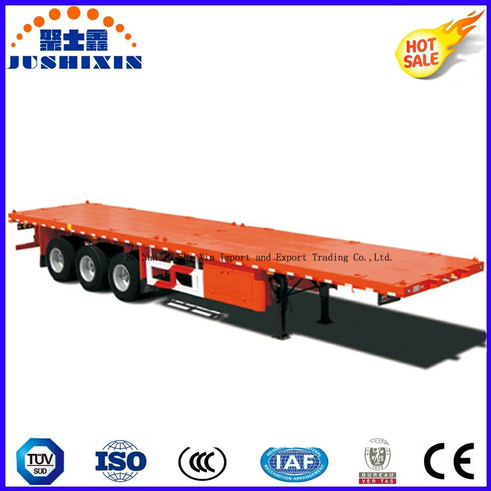 3axles Shipping 40feet Container Flatbed Trailer