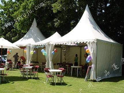 4x4m garden shade tent for party in white or blue