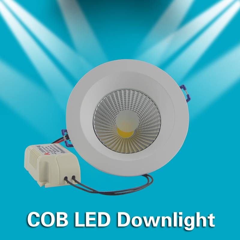 8A  9w  Indoor COB LED Down Light D112.5*50.5mm AC90-264V ROHS