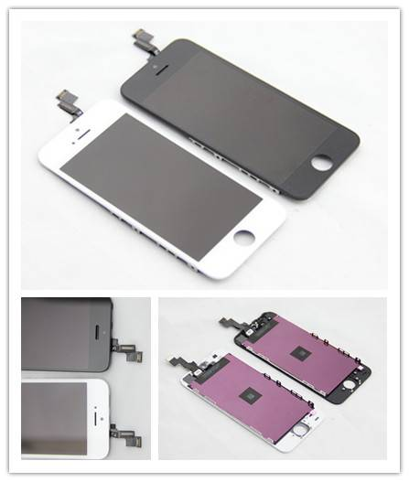 For Apple iPhone 5S LCD Screen and Digitizer Assembly with Frame white/black