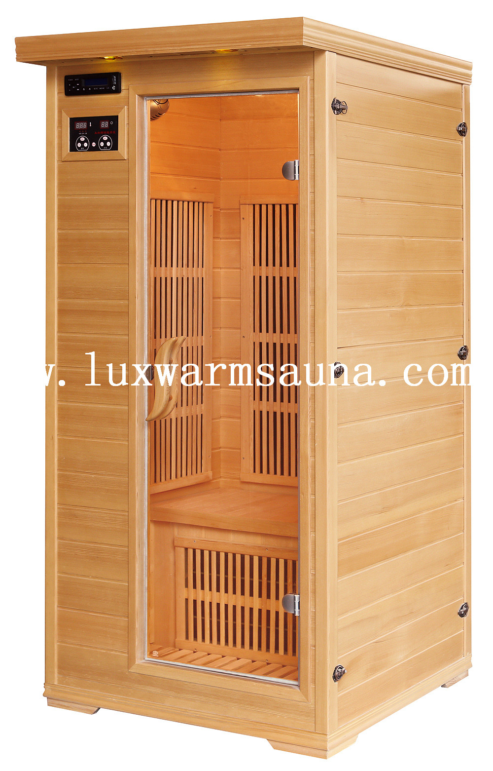 Far infrared carbon heater low EMF sauna room