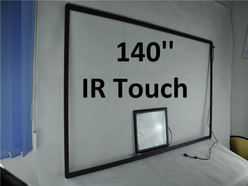 140inch custom made very large size touch screen for US Market USB 16 Points touch Windows linux os