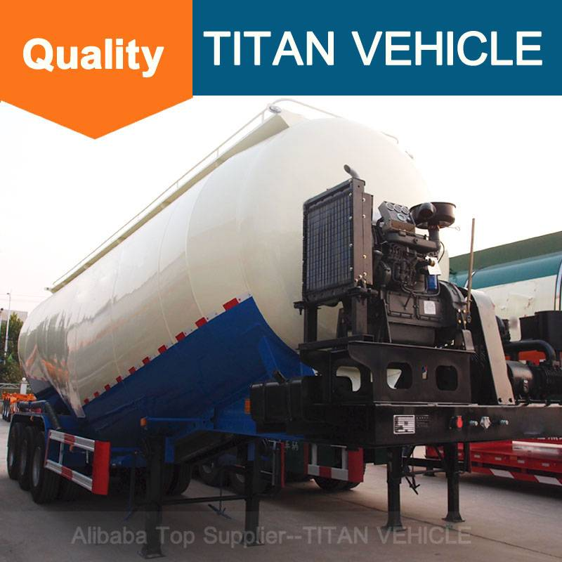 Titan Vehicle Bulk cement trailer V Type Bulk Cement Semi Trailer trailer tank