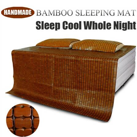 China Handmade Summer Cooling Bamboo Sleeping Mat Cool Mattress Topper for Bed