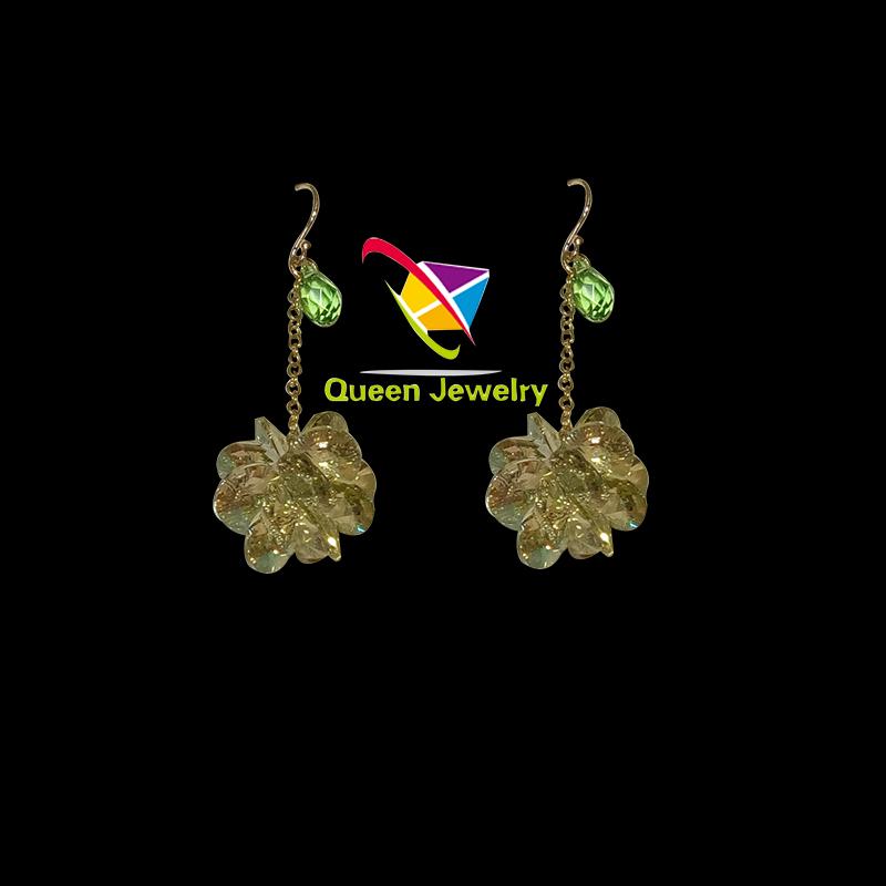 Free shipping wholesale magnetic zircon earrings style crystal earrings for women