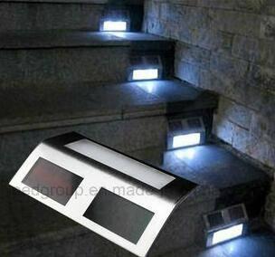 Durable Stainless Steel LED Solar Stair Light Smart Solar Step Light