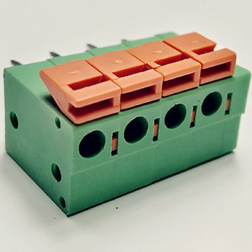 Termainal Block connector,5.0mm-5.08mm,4ways,green+red color