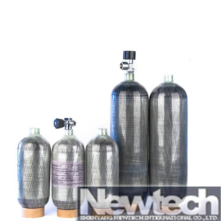 CE approved SCBA firefighting aluminum composite gas cylinder