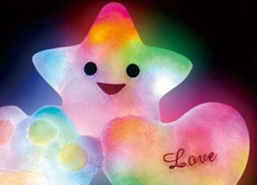 LED Bright Light Star Pillow