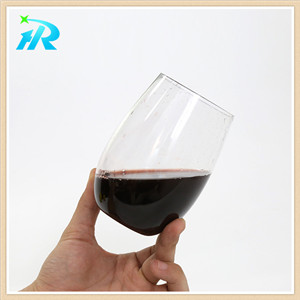4 OZ disposable stemless orystal plastic tumbler wine glasses