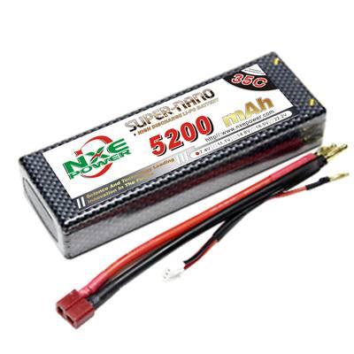 NXE5200mAh-35C-7.4V Hardcase RC Car Battery